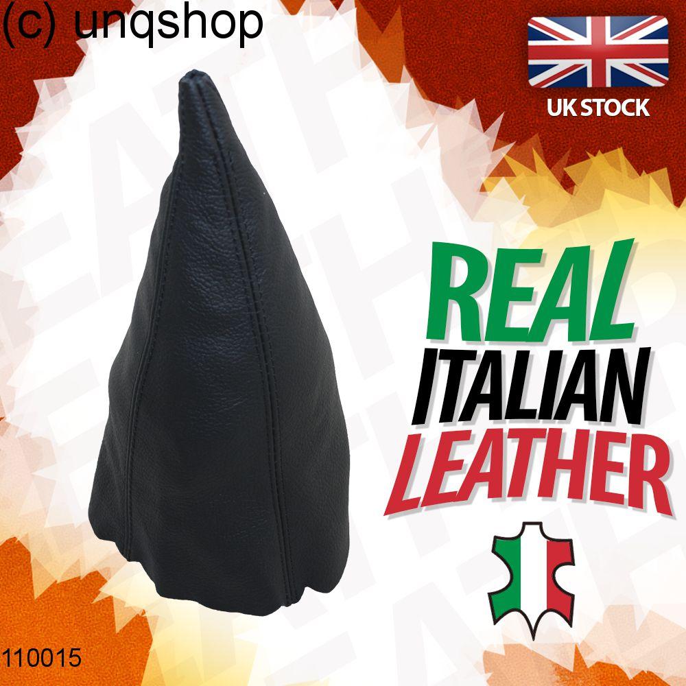 Leather Gear Gaiter (Black with black stitch) Audi 100 C3