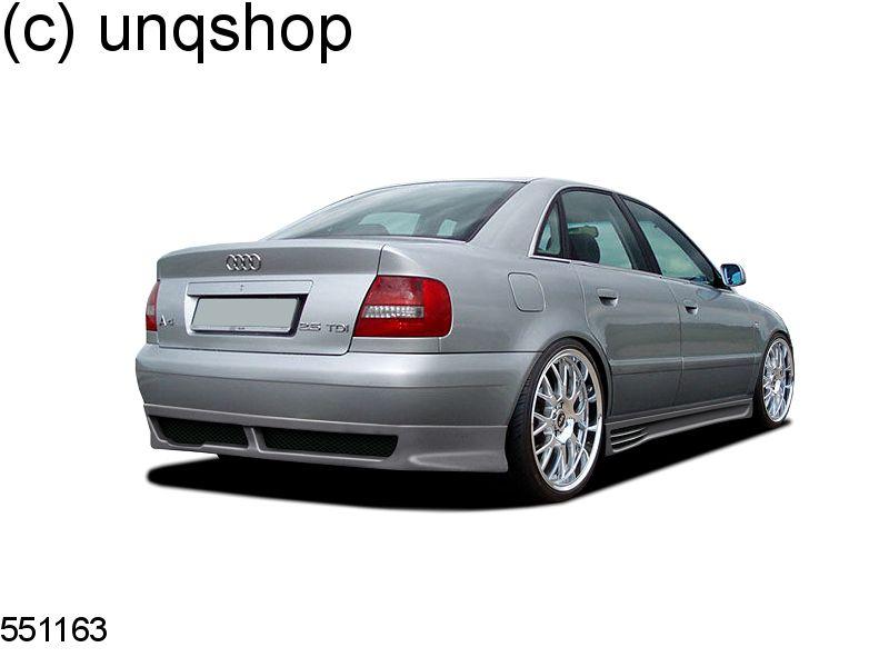 Rear splitter bumper lip spoiler valance add on (Classic) Audi A4 B5