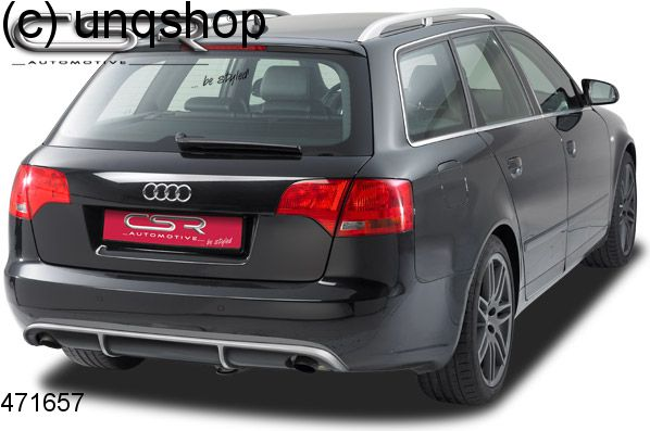 Rear Diffuser Double Exhaust Audi A4 B7 Only For Non Sline Estate