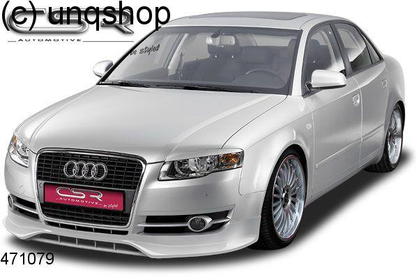 Front splitter bumper lip spoiler valance add on Audi A4 B7 , only for Non Sline