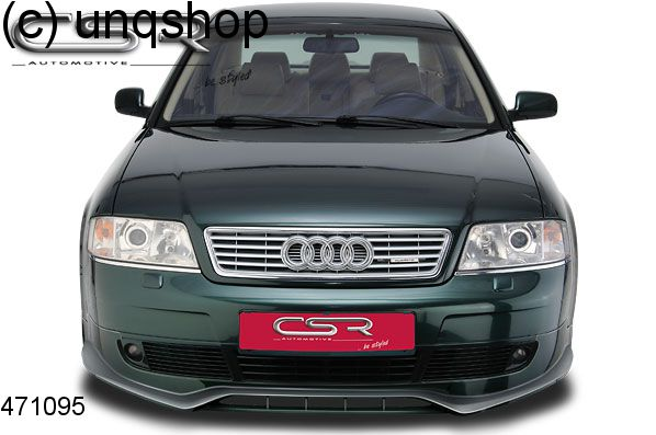 Front Splitter Bumper Lip Spoiler Valance Add On Audi A6 C5 Only For Prefacelift 1997 2001