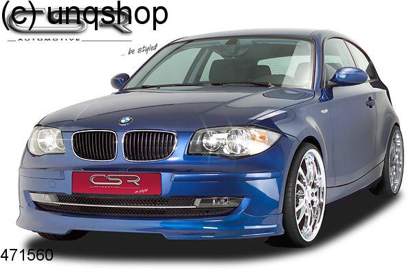 Front splitter bumper lip spoiler valance add on BMW 1 SERIES E81/82/87/88 , only for Facelift