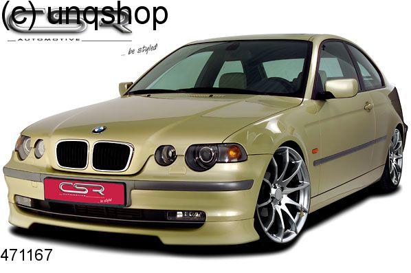 Front splitter bumper lip spoiler valance add on (Compact) BMW 3 SERIES E46