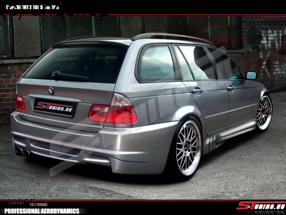 rear bumper bmw 3 series e46 only for touring. Black Bedroom Furniture Sets. Home Design Ideas