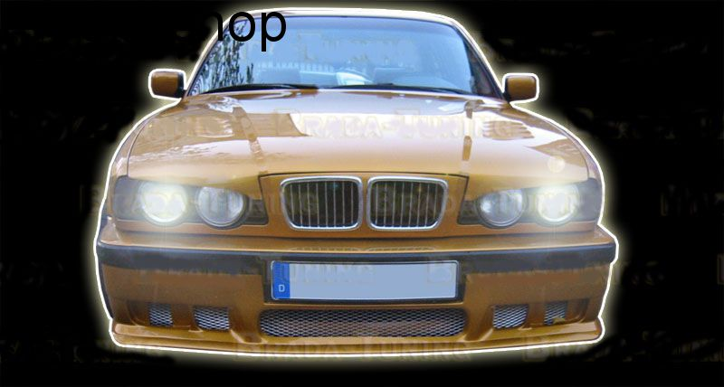 Front splitter bumper lip spoiler valance add on BMW 5 SERIES E34