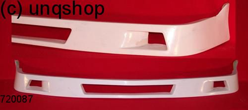 Front splitter bumper lip spoiler valance add on (Third) BMW 5 SERIES E34