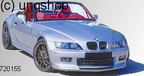 Front splitter bumper lip spoiler valance add on BMW Z3  , only for Facelift