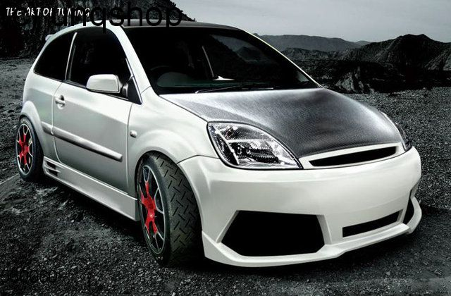 Front bumper (LAMBO) Ford Fiesta Mk6 , only for Prefacelift