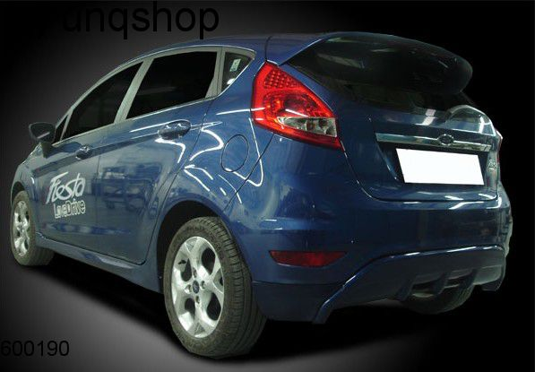 Rear splitter bumper lip spoiler valance add on Ford Fiesta MK7 , only for Prefacelift
