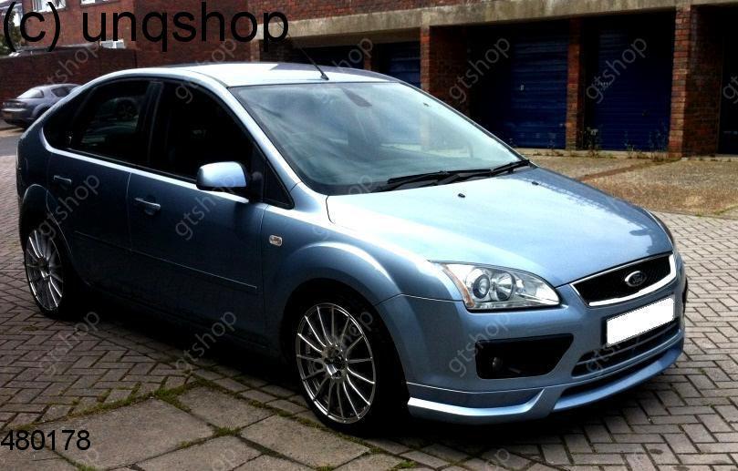 Front splitter bumper lip spoiler valance add on Ford Focus MK2 , only for Prefacelift