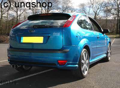 Rear splitter bumper lip spoiler valance add on Ford Focus MK2 , only for Prefacelift