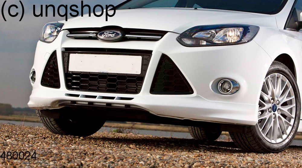Front splitter bumper lip spoiler valance add on (ZETEC S) Ford Focus MK3 , only for Prefacelift