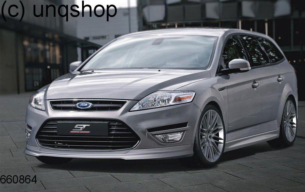 Front splitter bumper lip spoiler valance add on Ford Mondeo Mk4 , only for Facelift