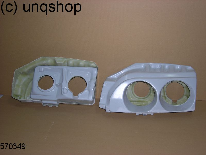 Headlights conversion panel Ford Sierra Mk2