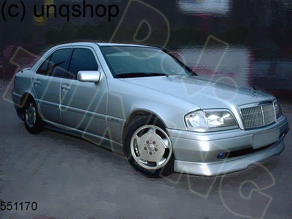 Front splitter bumper lip spoiler valance add on Mercedes C W202