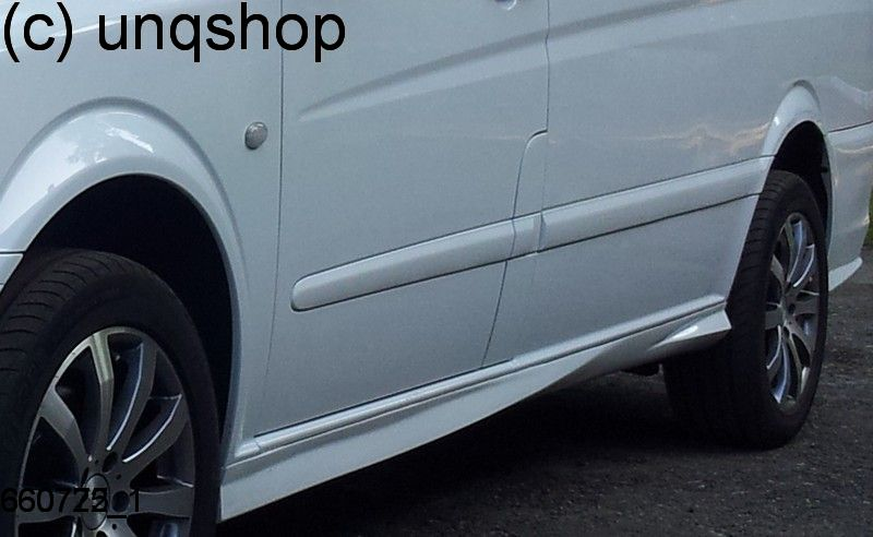 Side skirts Mercedes Vito MK2 W639 , only for LWB Two sliding doors