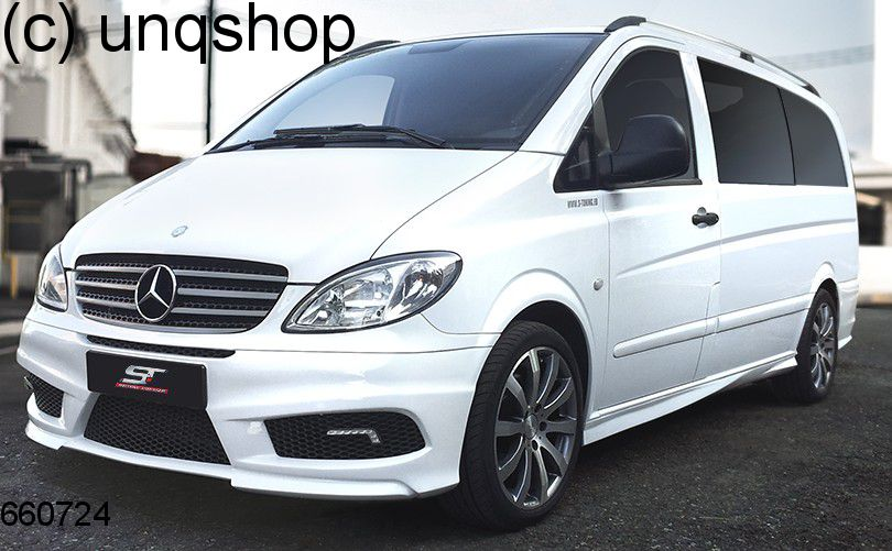 Front bumper (with LED and ABS grill) Mercedes Vito Mk2 W639 , only for Prefacelift