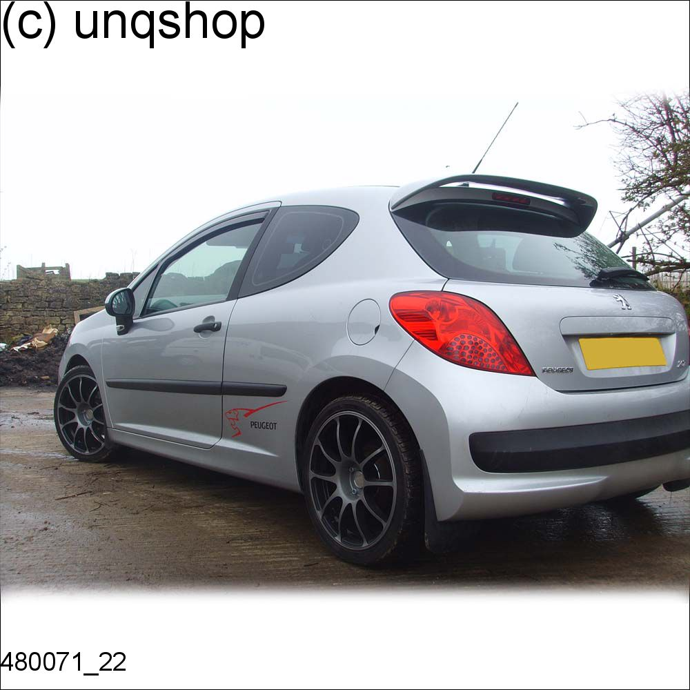 480071 roof spoiler peugeot 207 gti grp ebay. Black Bedroom Furniture Sets. Home Design Ideas