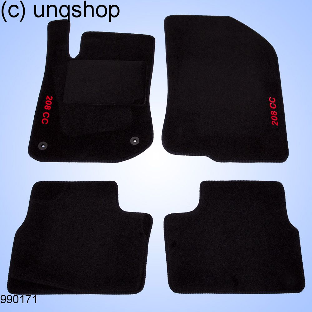 car mats (208) peugeot 208 , only for euro lhd cc