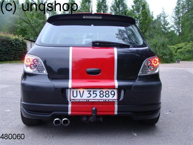 rear splitter bumper lip spoiler valance add on peugeot 307