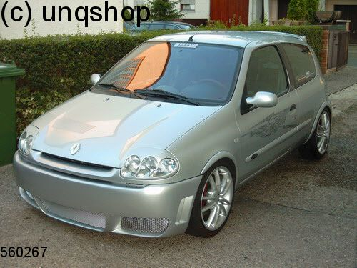 front bumper rs4 renault clio mk2 only for phase 1. Black Bedroom Furniture Sets. Home Design Ideas