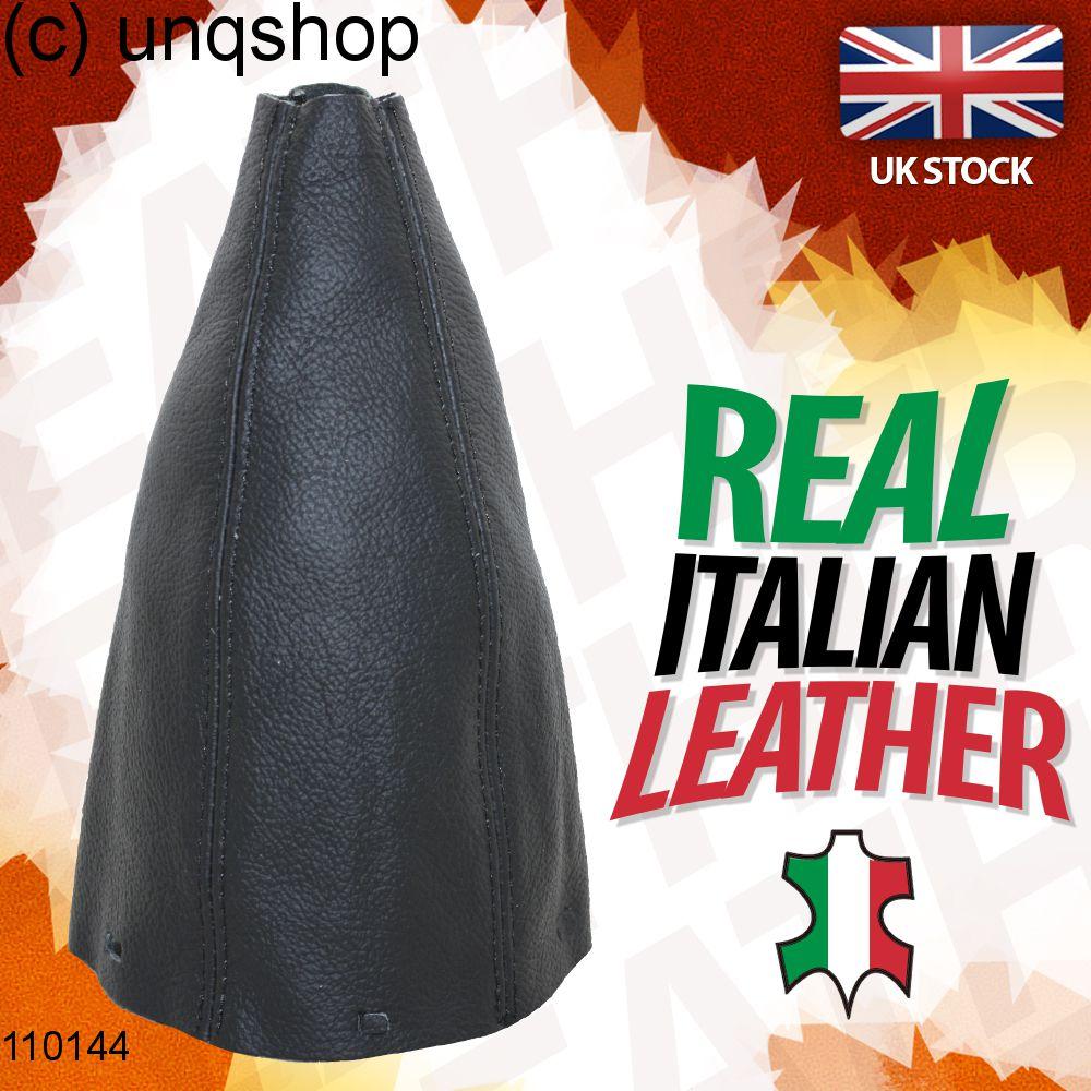 GEAR GAITER BLACK ITALIAN LEATHER ORANGE STITCHING