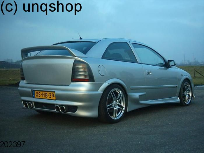 rear bumper tuning with lp vauxhall opel astra mk4 g ii only for htb. Black Bedroom Furniture Sets. Home Design Ideas