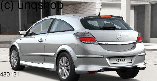 Rear splitter bumper lip spoiler valance add on Vauxhall/Opel Astra Mk5/H/III , only for GTC 3 DOORS