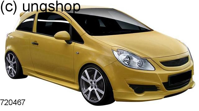 Grill Vauxhall/Opel Corsa D , only for Prefacelift