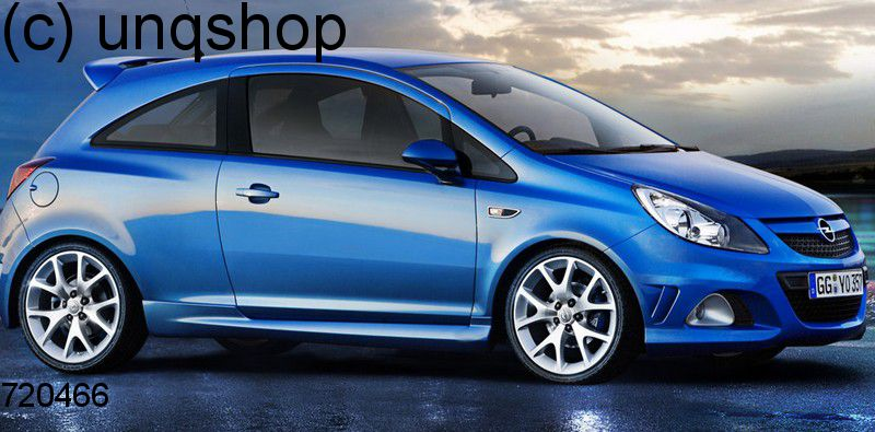 Side skirts Vauxhall/Opel Corsa D , only for 3 doors