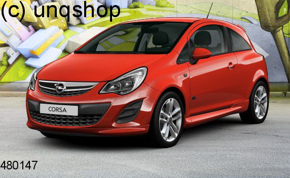 Front splitter bumper lip spoiler valance add on (VXR OPC Styling pack) Vauxhall/Opel Corsa D , only for Facelift 3 doors