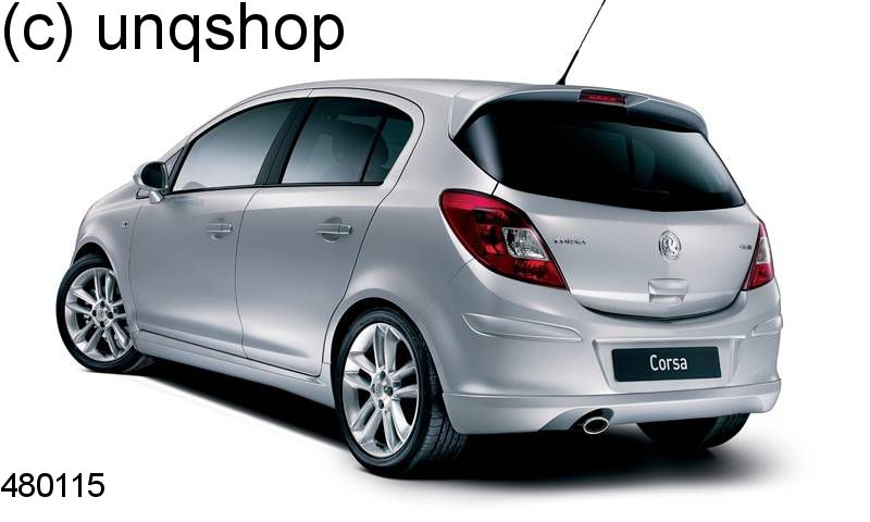 Roof Spoiler (VXR OPC Styling pack) Vauxhall/Opel Corsa D , only for 5 DOORS