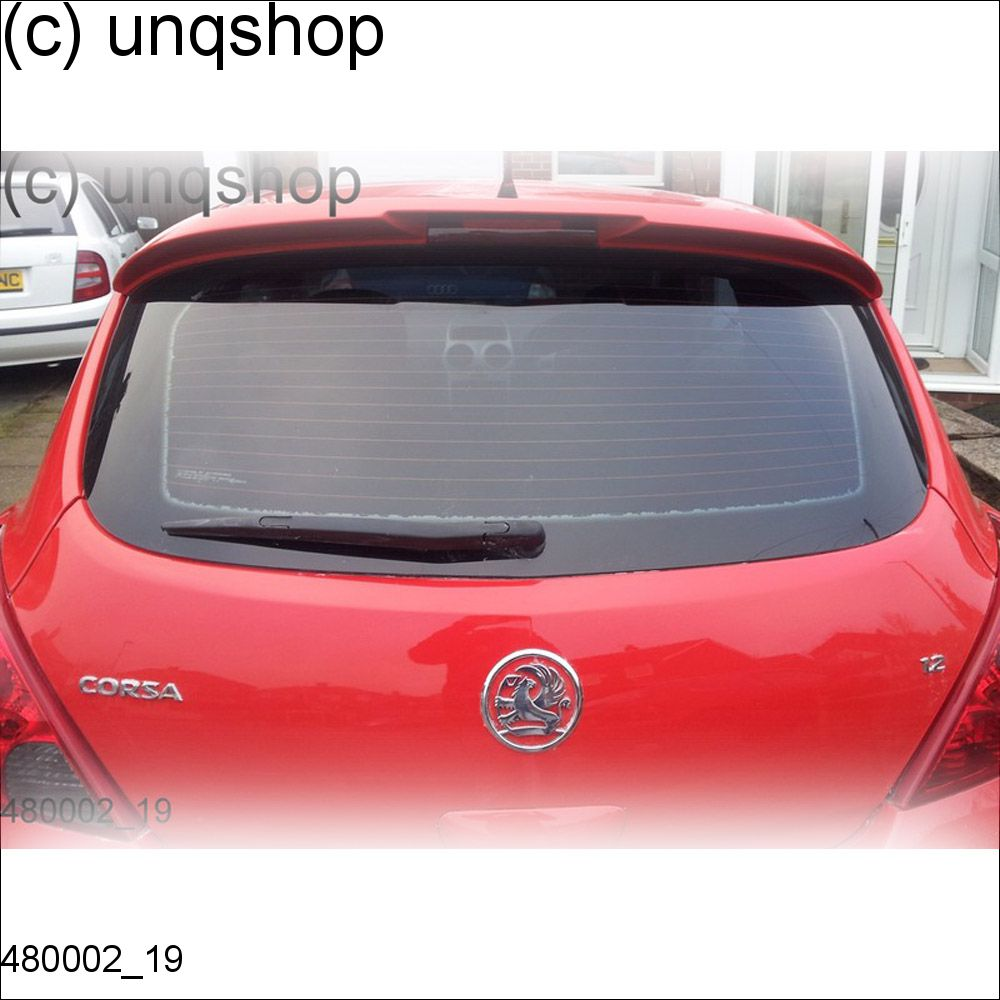480002 vauxhall opel corsa d vxr style 3 doors roof spoiler grp ebay. Black Bedroom Furniture Sets. Home Design Ideas