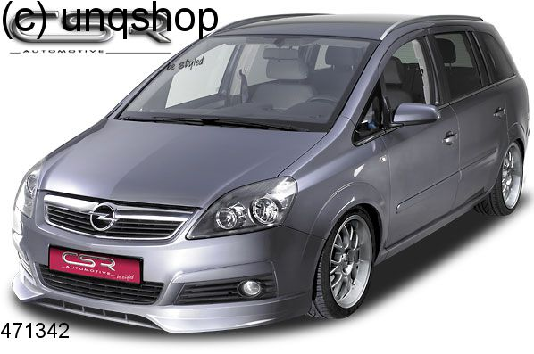 Front splitter bumper lip spoiler valance add on Vauxhall/Opel Zafira B