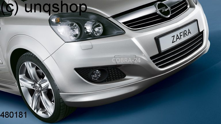 Front splitter bumper lip spoiler valance add on (OPC line) Vauxhall/Opel Zafira B , only for Facelift