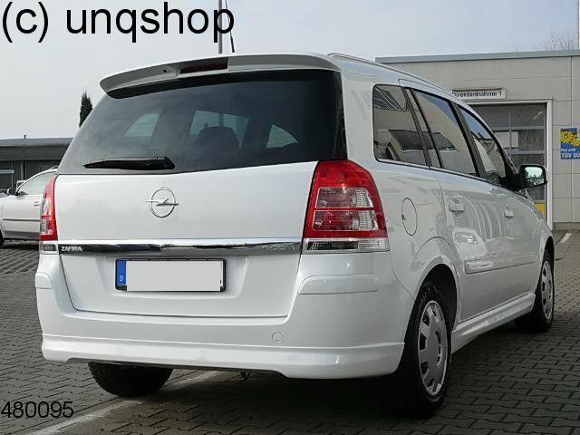 Rear splitter bumper lip spoiler valance add on Vauxhall/Opel Zafira B , only for Prefacelift