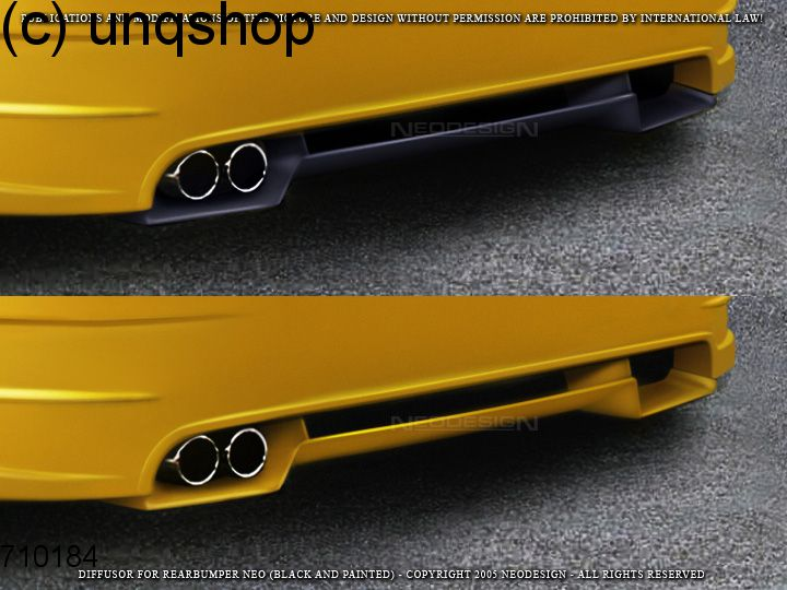 rear bumper neo with diffuser vw golf mk4