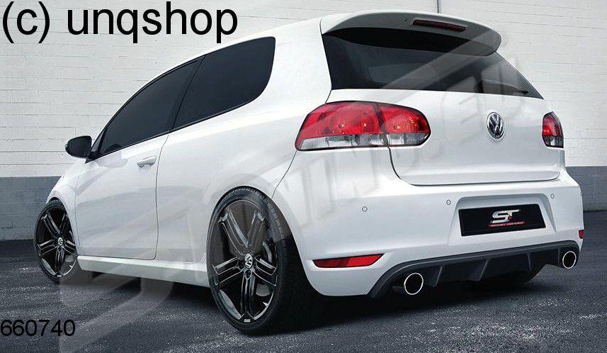 Rear Bumper R Style Vw Golf Mk6