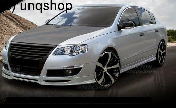Front splitter bumper lip spoiler valance add on VW Passat B6