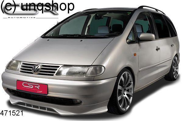 Front splitter bumper lip spoiler valance add on VW Sharan Mk1 , only for Prefacelift 1996-2000