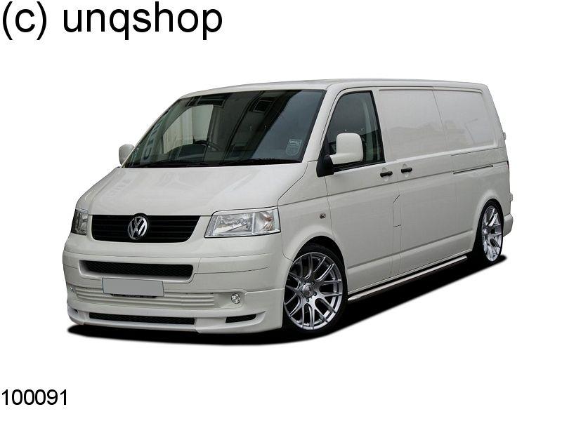 Front splitter bumper lip spoiler valance add on (AB_T 2) VW T5  , only for Transporter Prefacelift