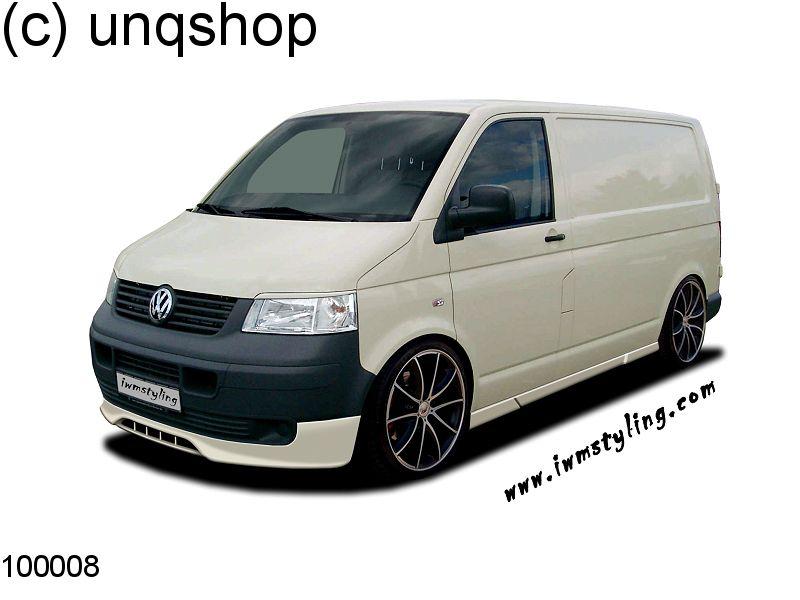 Front splitter bumper lip spoiler valance add on VW T5  , only for Prefacelift Transporter
