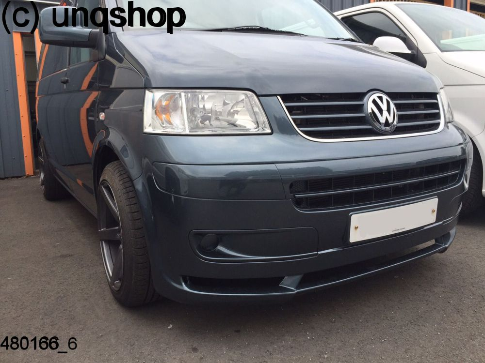 front splitter bumper lip spoiler valance add on new german style vw t5 only for prefacelift. Black Bedroom Furniture Sets. Home Design Ideas