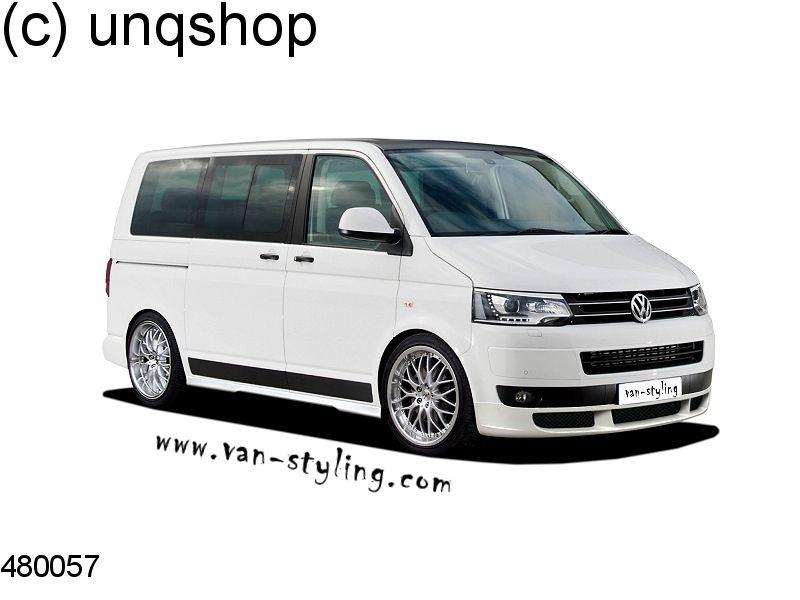 Front splitter bumper lip spoiler valance add on (Sport) VW T5  , only for Facelift