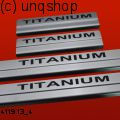 Door sills (TITANIUM) Ford Focus Mk3 , only for Facelift