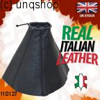 Leather Gear Gaiter (Black with black stitch) Ford Mondeo Mk3 , only for Prefacelift