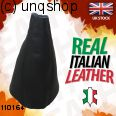 Leather Gear Gaiter (Black with black stitch) Vauxhall/Opel Corsa D