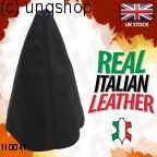 Leather Gear Gaiter (Black with black stitch) VW CADDY Mk2 9K