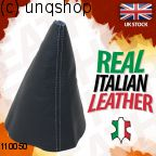 Leather Gear Gaiter (Black with white stitch) VW CADDY Mk2 9K