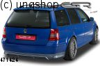 Rear splitter bumper lip spoiler valance add on (Estate) VW Golf Mk4